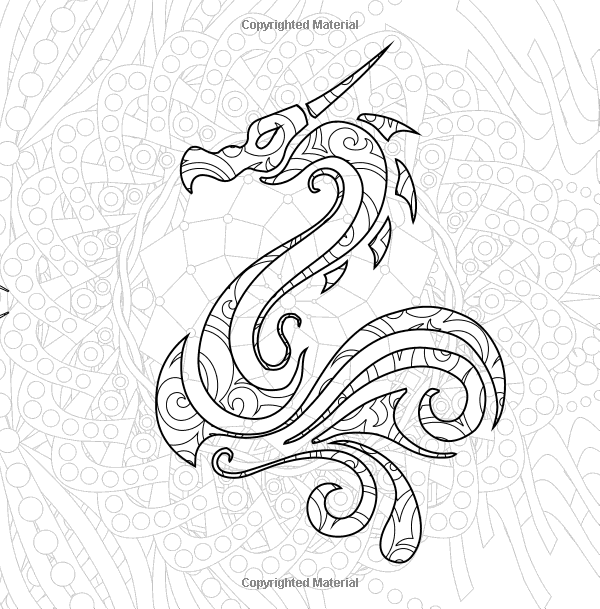 j benson coloring pages | Color Dragons: Adult Coloring for Fun: Benson: Books ...