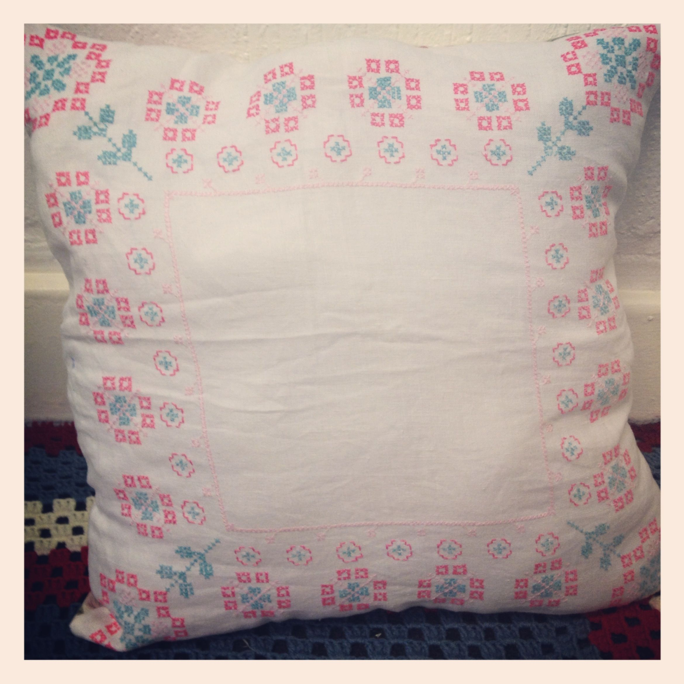 New gemmipop vintage cushion - £15 from my stall