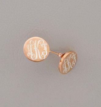 Rose Gold Flutter Monogram Earrings Http Swellcaroline Or Plated Silver Html