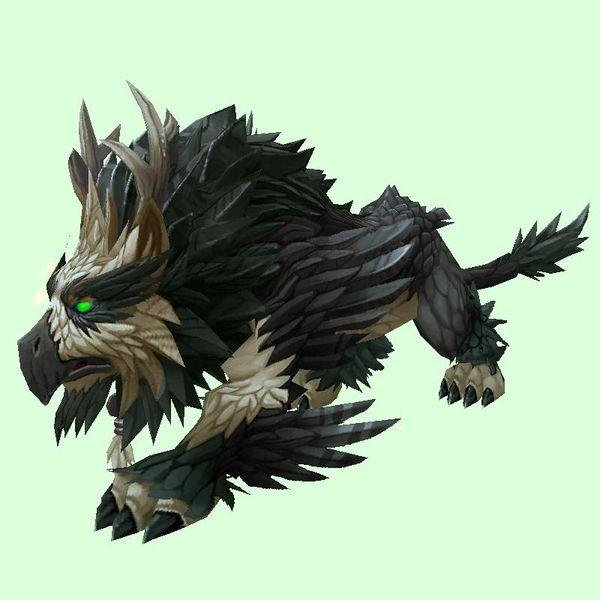 Black Owlcat Brown And Grey Character Art Lion Sculpture