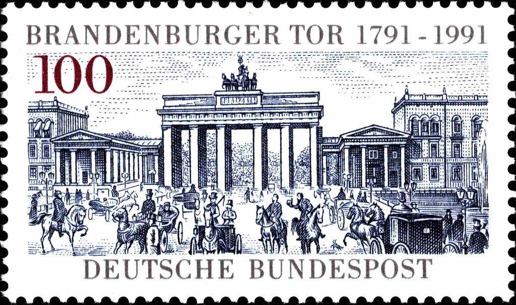Deutschland 1991 200 Jahre Brandenburger Tor In Berlin Germany Deutschland Stamp