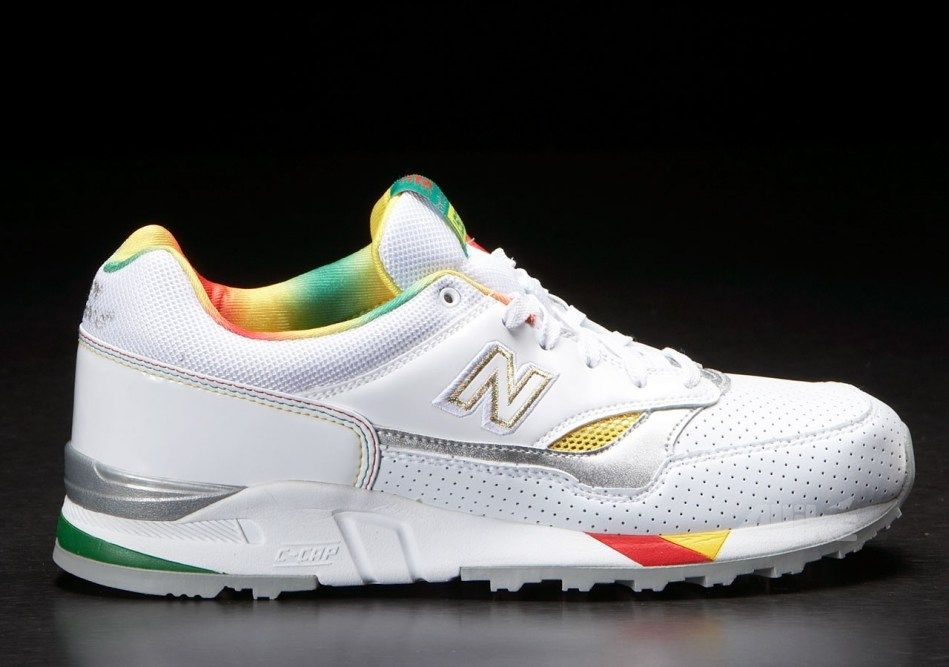 check-out 88205 1f607 New Balance 150 Fusion White/Silver/Rainbow | Fred Perry ...