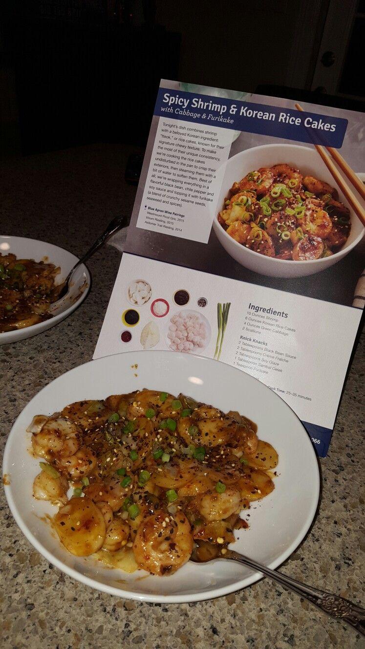 Blue apron korean rice cakes - Spicy Shrimp And Korean Rice Cakes