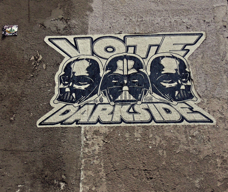Vote darkside u paris street art ilustraciones pinterest paris
