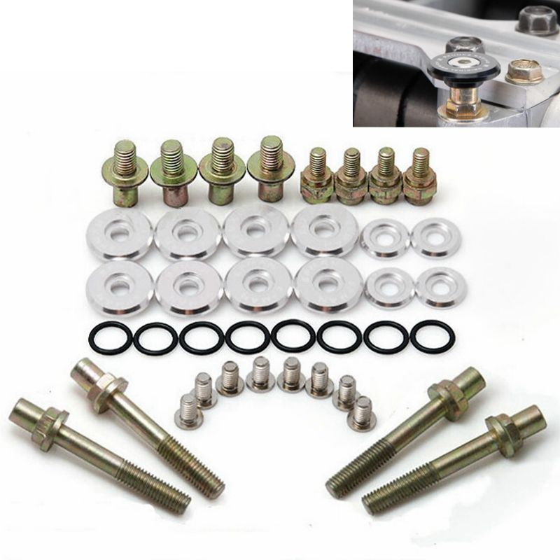 Racing Valve Cover Bumpers Fender Washers Bolts Kit Low-Profile ...