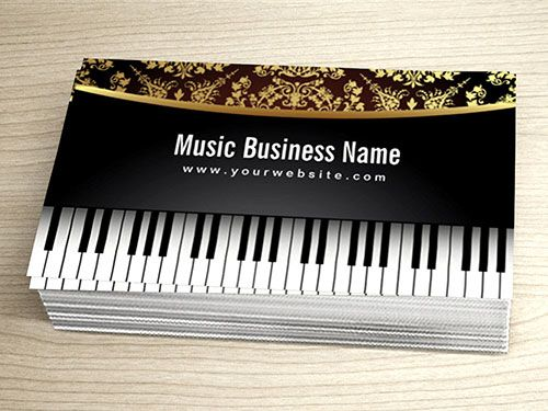 Luxury realistic piano business card template business card luxury realistic piano business card template colourmoves