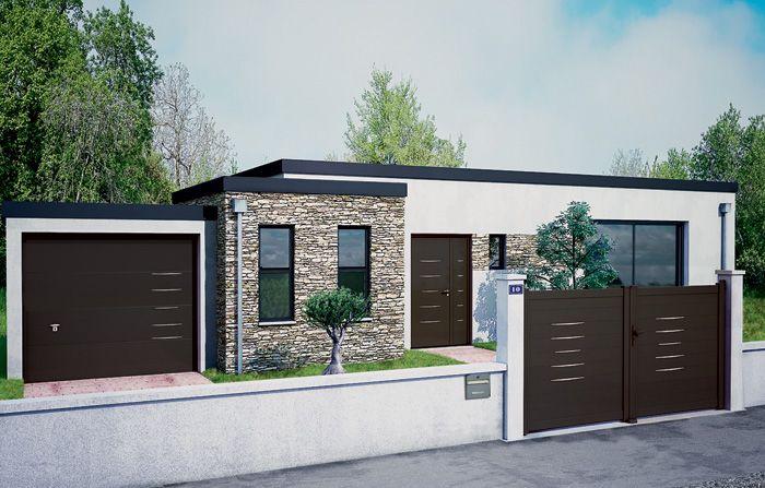 Porte D Entree Aluminium Bel M Modele Alinea Peinture Facade Maison Facade Maison Portail Et Cloture