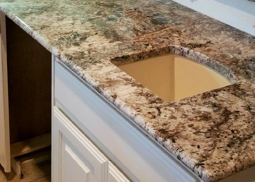 Blue Flower Granite - Light Granite Countertops - Kitchen ...