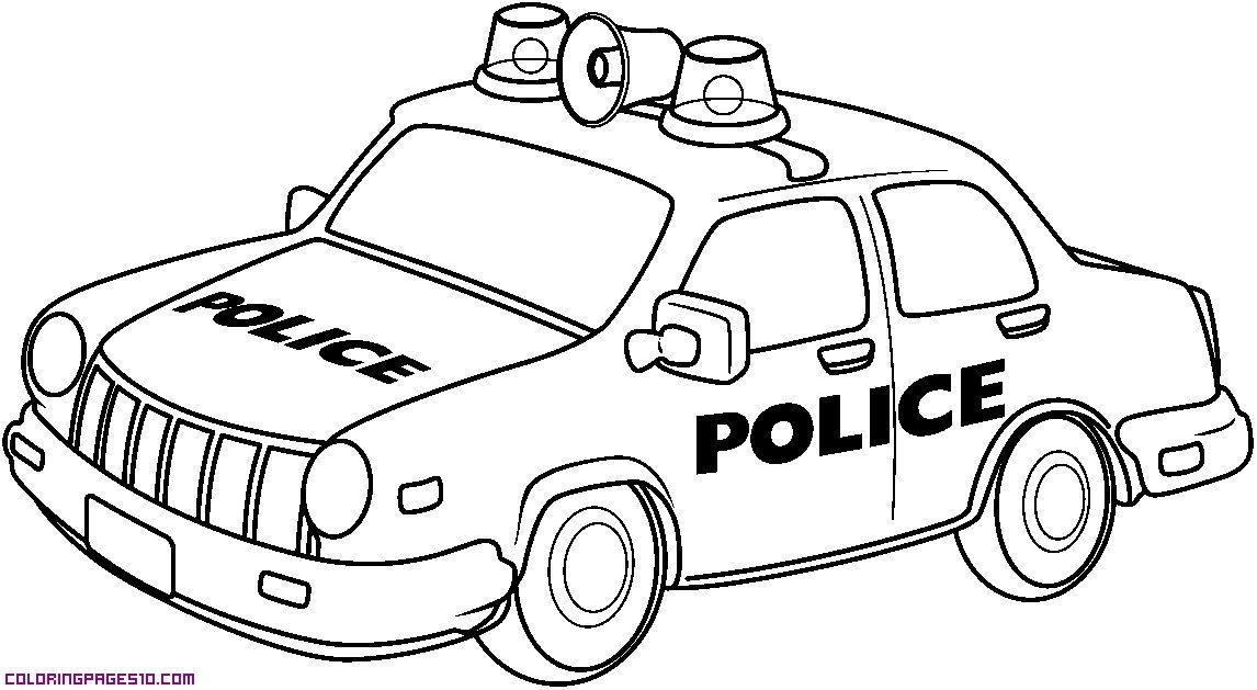 Police Car Coloring Pages Printable Sketch Page