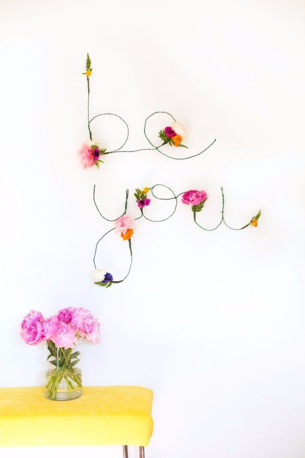 Diy teen room decor ideas for girls diy floral and wire words diy teen room decor ideas for girls diy floral and wire words cool bedroom decor wall art signs crafts bedding fun do it yourself project solutioingenieria Gallery