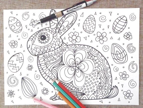 Easter Bunny Card Chibi Kids Coloring Kawaii Rabbit Adults Easter Digital Nice Cute Baby Download Colouring Coloring For Kids Printable Print Cute Easter Bunny