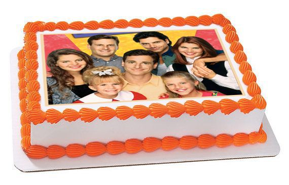 Incredible Full House Edible Birthday Cake Topper Or Cupcake Topper Decor Birthday Cards Printable Benkemecafe Filternl