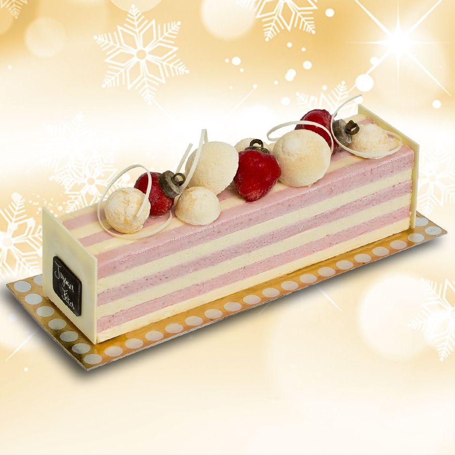 Bûche Glacée Vacherin fraise