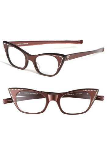 Corinne McCormack 'Melissa' Crystal Cat's Eye Reading Glasses available at #Nordstrom