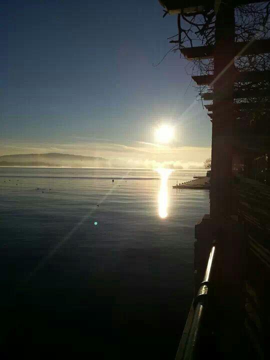 L'alba di Capodanno ad #Arona ( #Novara #Piedmont #Italy ) #sunrise #alba
