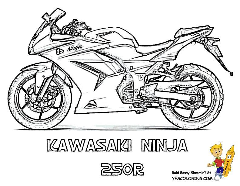 Rugged Motorcycle Coloring Book Pages Coloring Book Pages