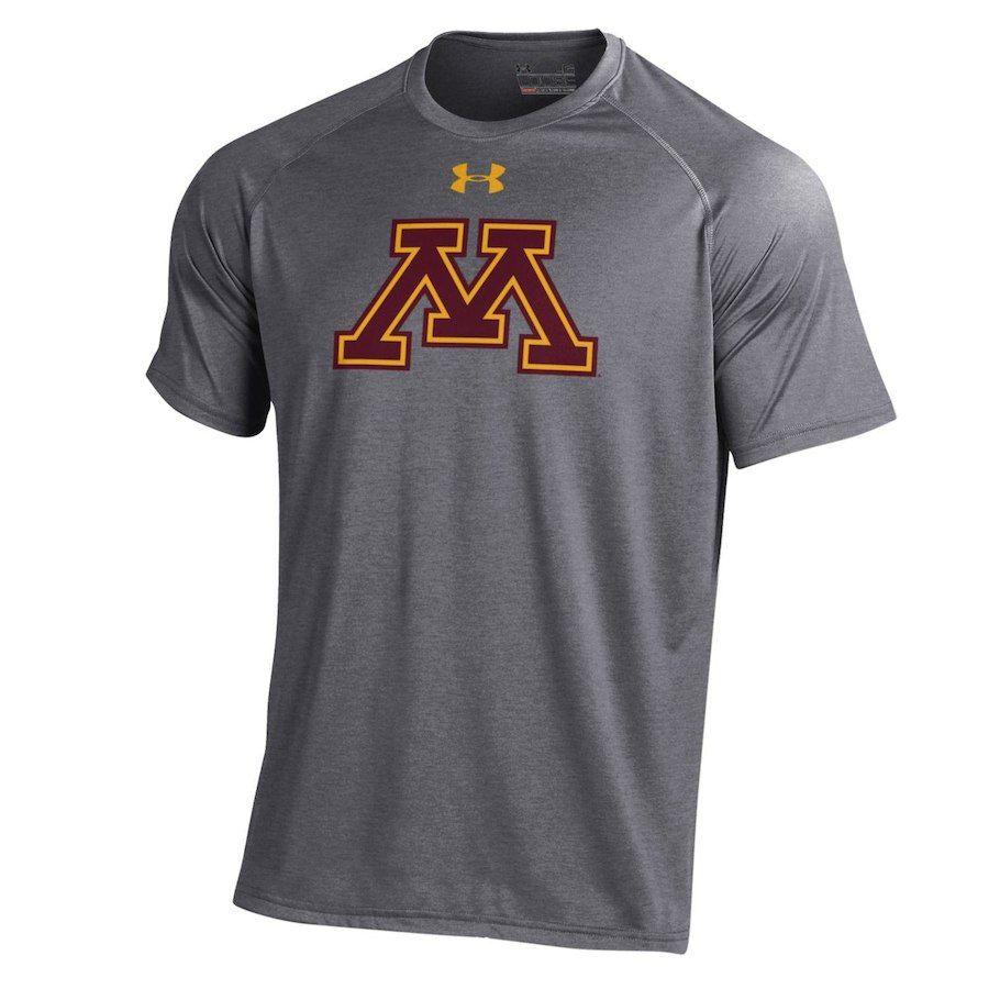 6de185839 Minnesota Golden Gophers Under Armour School Logo Performance T-Shirt -  Charcoal