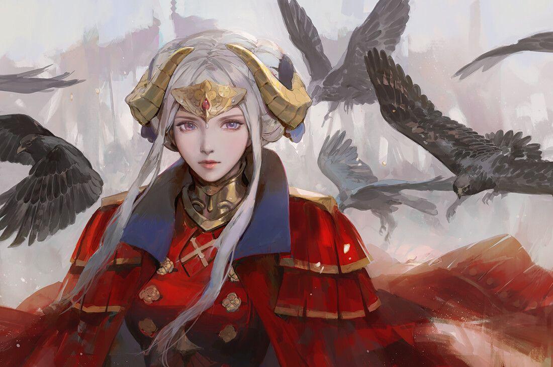 Edelgard Von Hresvelg By Jiayue Wu Fire Emblem Characters Fire Emblem Fire Emblem Games