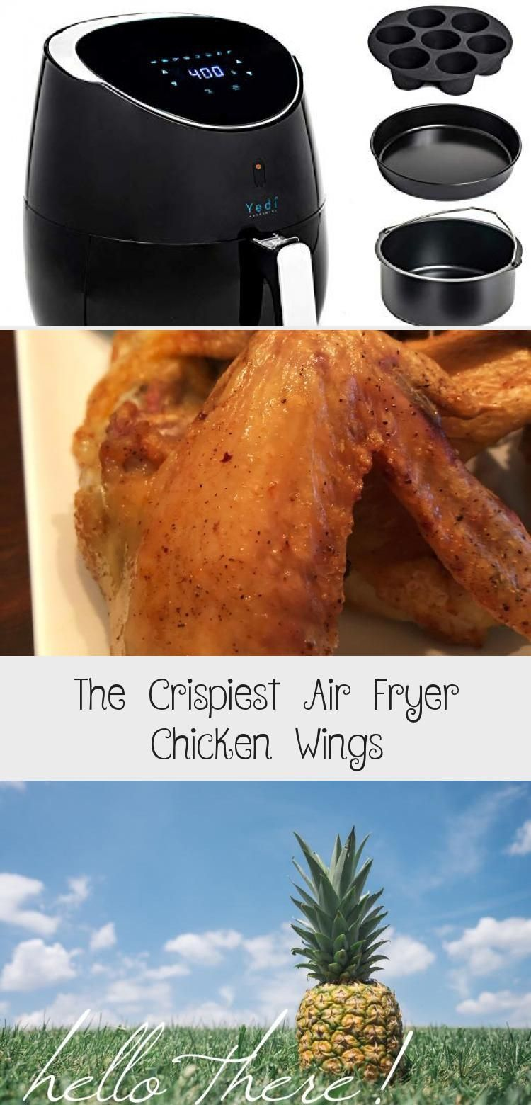 The Crispiest Air Fryer Chicken Wings Madeitloveitpaleo No Breading Seriously Crispy And