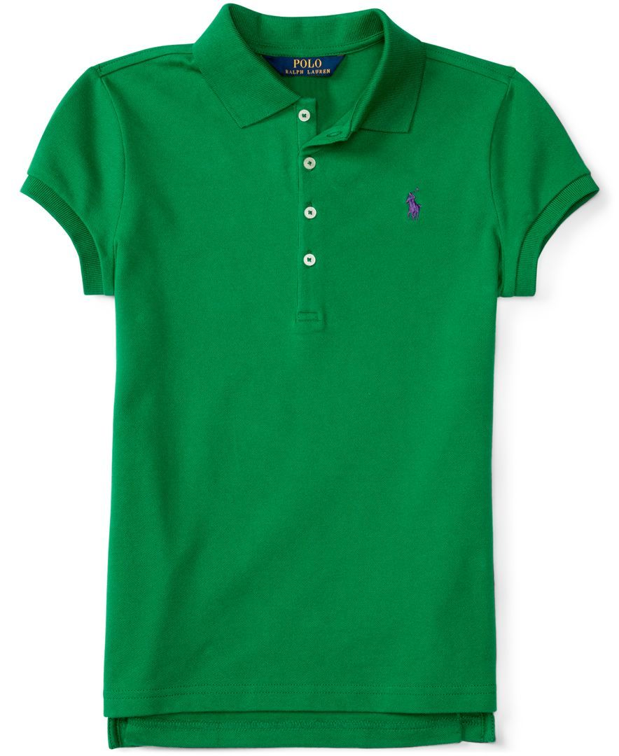 Ralph Lauren Girls' Elongated Polo Shirt