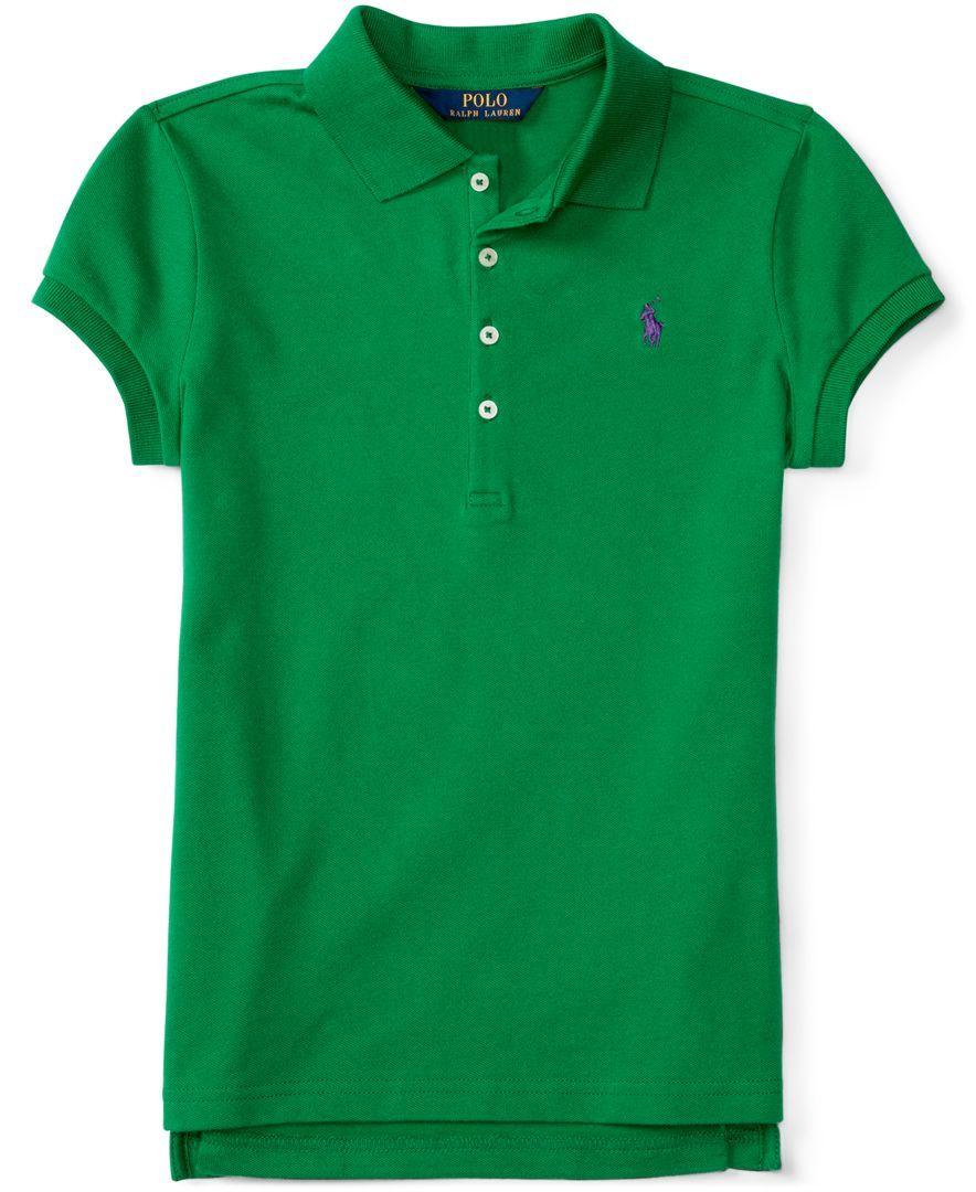 Ralph Lauren Girls' Elongated Polo Shirt