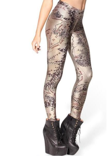 Lord of The Rings TightsMap of Middle Earth LeggingsYoga Pants