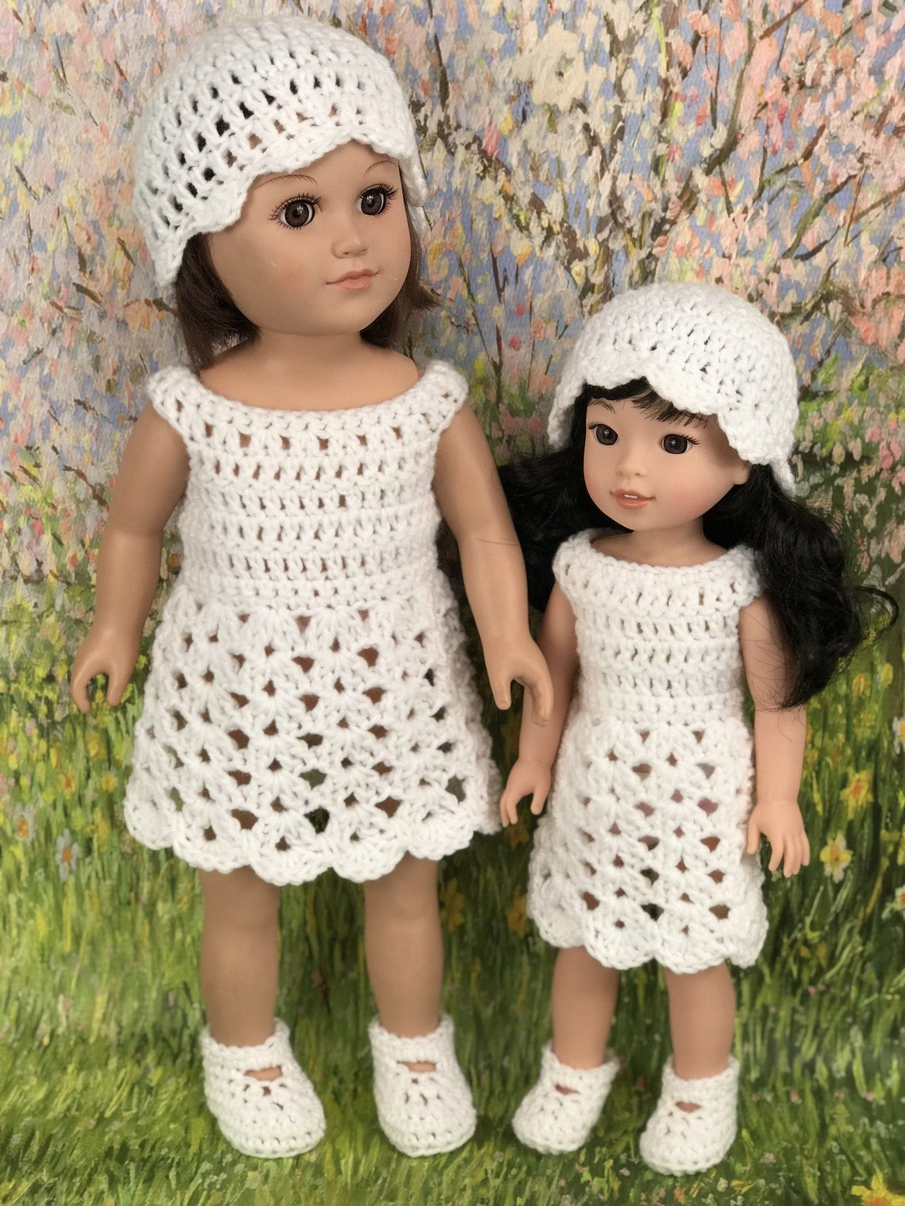 Crochet Pattern 18 Doll Easter Outfit - Adoring Doll Clothes
