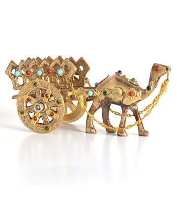 Gemstone Studded Pure Brass Camel Handicraft