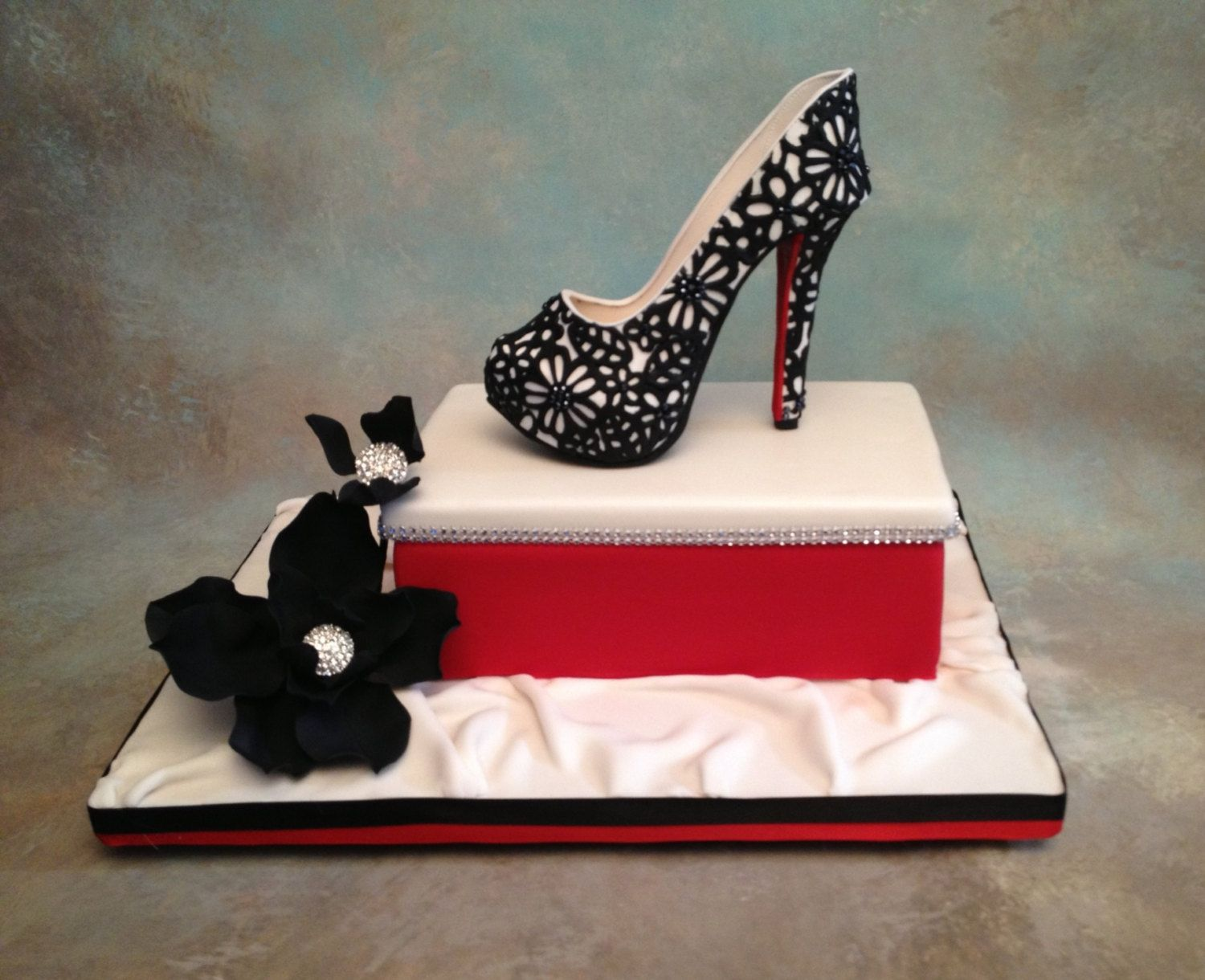 Fondant Gum Paste Shoe Cake Topper