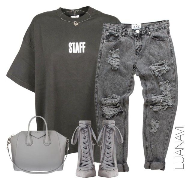"""""""Staff"""" by luanavii ❤ liked on Polyvore featuring Vetements, Zimmermann and Givenchy"""