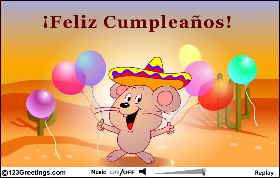 Happy Birthday Wish In Spanish Spanish Birthday Wishes Birthday Greetings Birthday Wishes