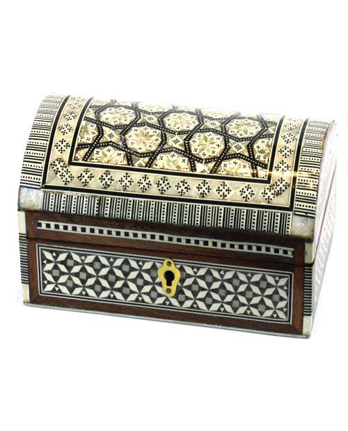 Decorative Photo Boxes Large Handcrafted Arched Genuine Mother Of Pearl Decorative Box