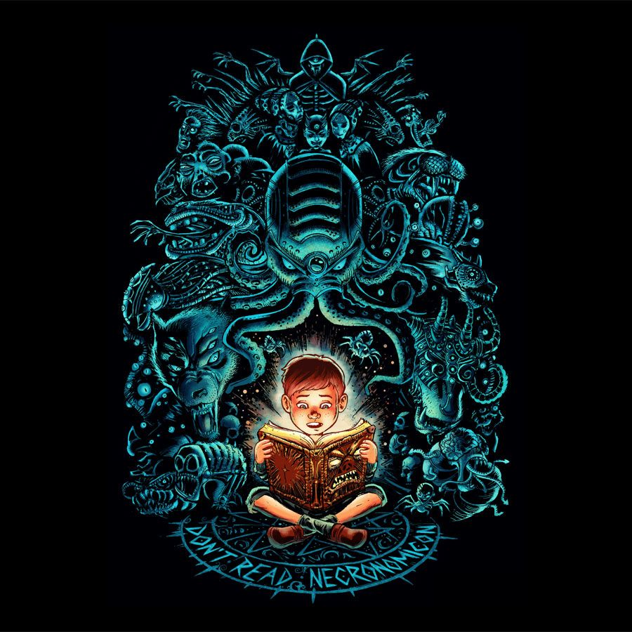 KIDS, DON'T READ NECRONOMICON! T Shirt By Wagnogueira