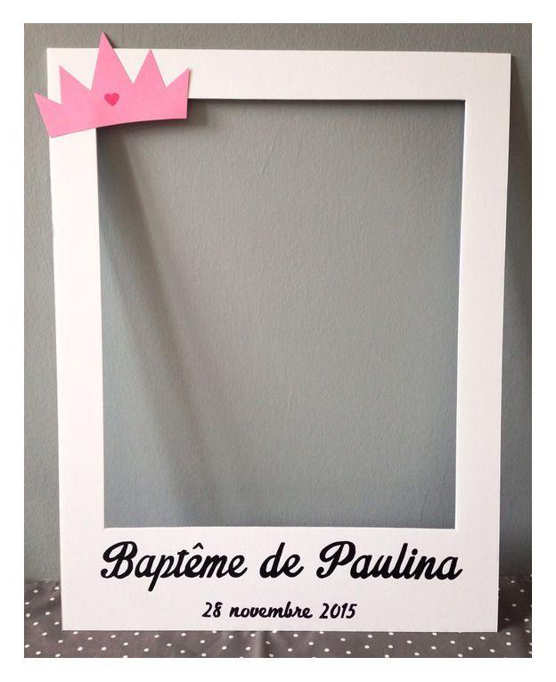 Cadre Photobooth Bapteme Ou Naissance Fille Deco Bapteme
