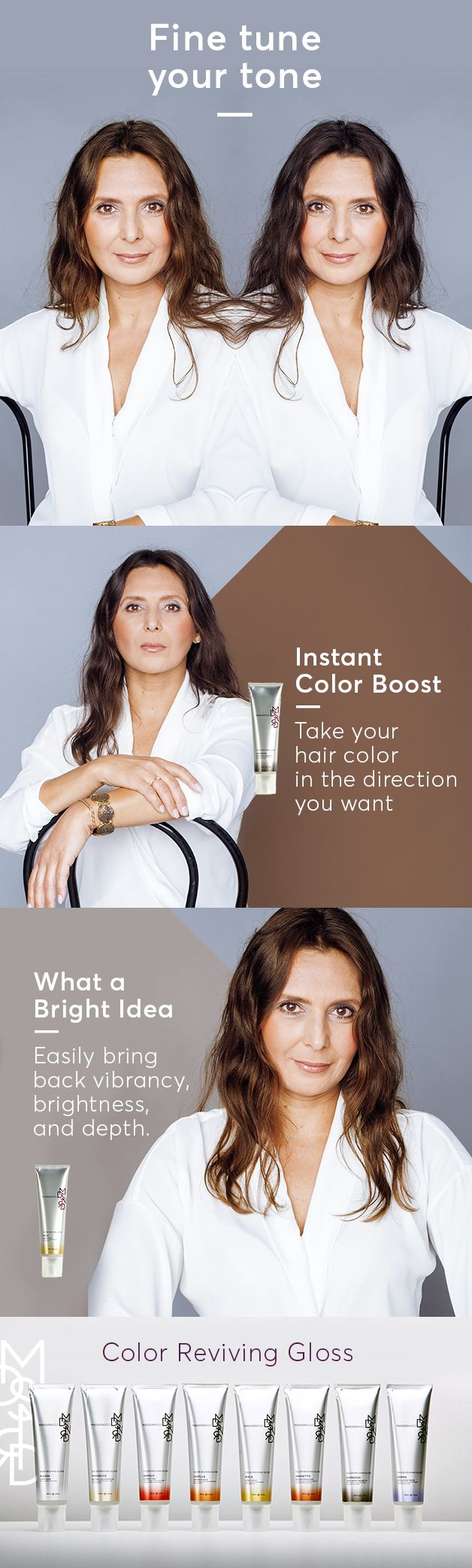Take your hair color in the direction you want by boosting tone with