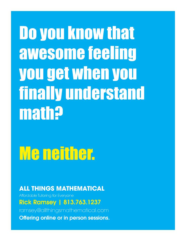 Awesome math tutor via skype if needed! Rick & Susan Ramsey 813-763 ...