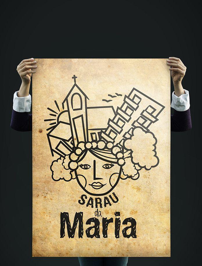 Poster - Sarau da Maria - Ilustração e composição
