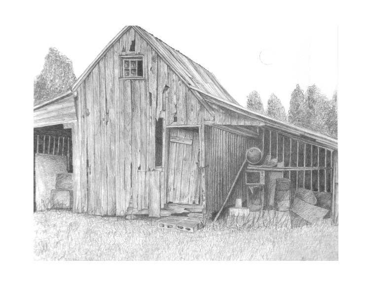 Rustic BARN Old Rural Farm Print Art By Michael Martin