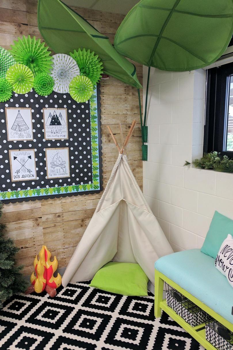 16 Cute Classroom Theme Ideas for Teachers is part of Reading corner classroom, Cozy reading corners, Reading nook classroom, Classroom themes, Reading corner, Classroom decor - Time for a classroom flip!