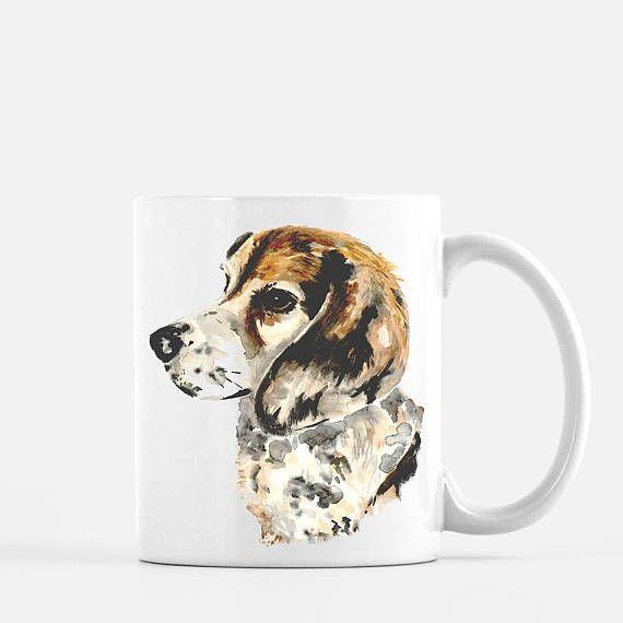 Painted Beagle Coffee Mug Dash And Hound Coffee Mugs Coffee Mugs