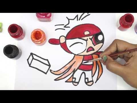 Powerpuff Girls Coloring Book Pages Rowdyruff Boys Brick Boomer ...