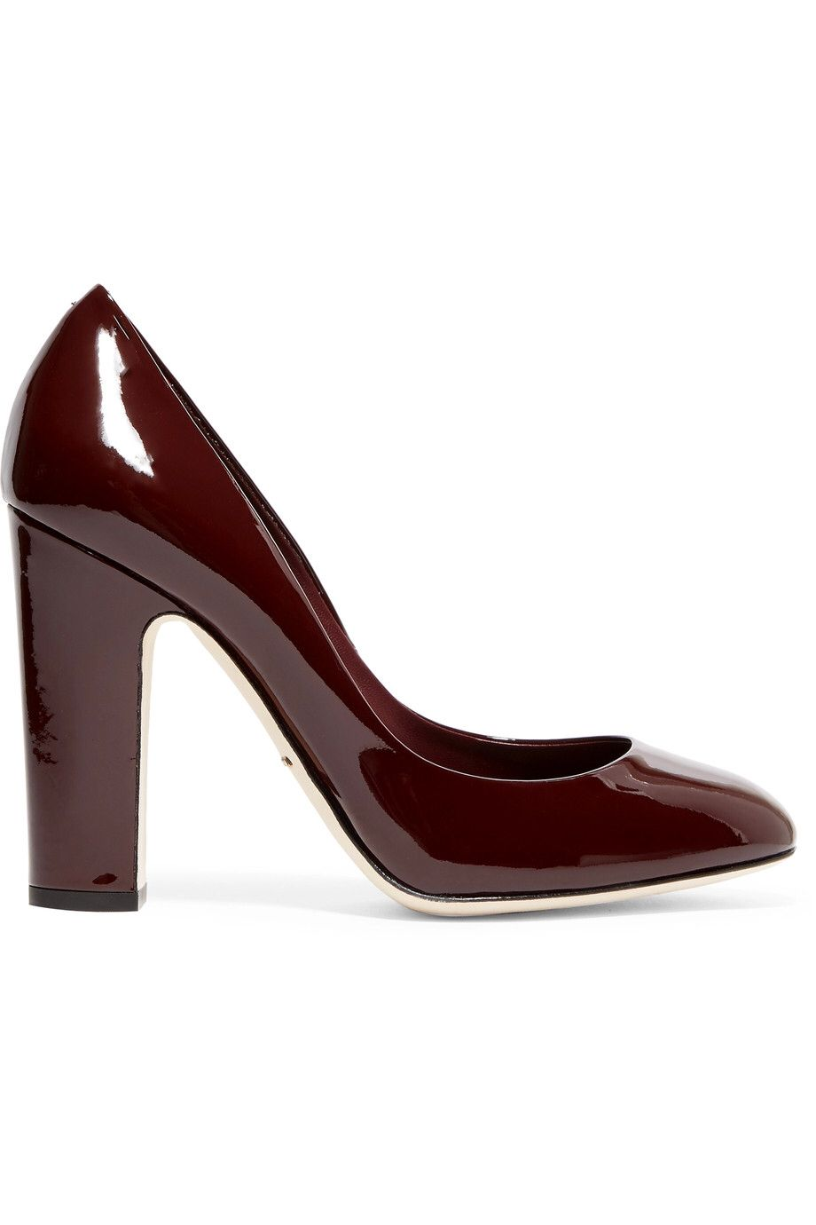 DOLCE & GABBANA PATENT-LEATHER PUMPS GBP199.38 http://www.theoutnet.com/product/972459