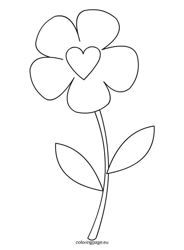 Preschool Flower Template Coloring Page Lotus Flower Drawing Simple Flower Drawing Flower Drawing