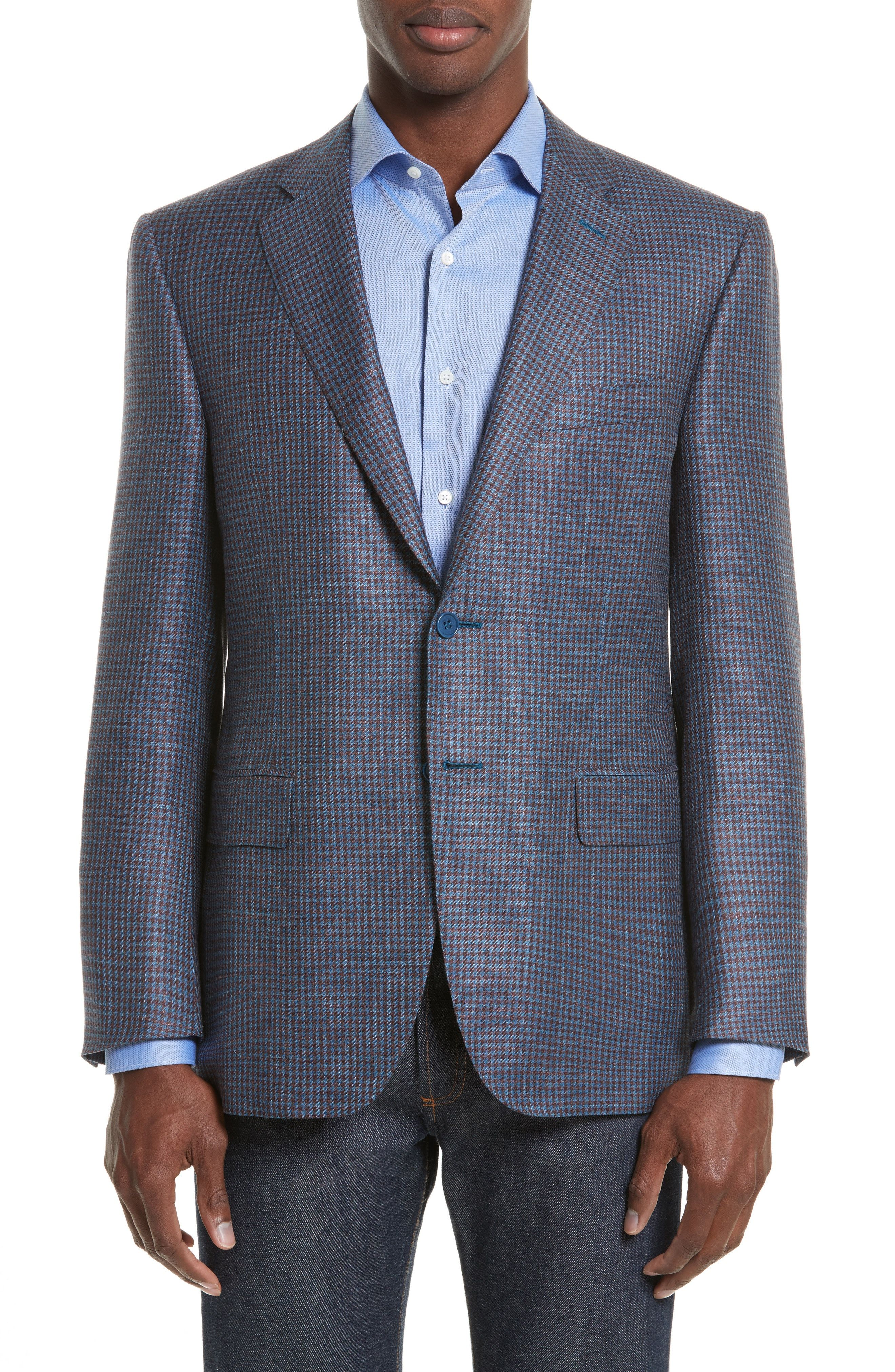 Canali Classic Fit Houndstooth Wool Suit Free Shipping Perfect Extremely Sale Online Choice Cheap Price AyNB3mKrY