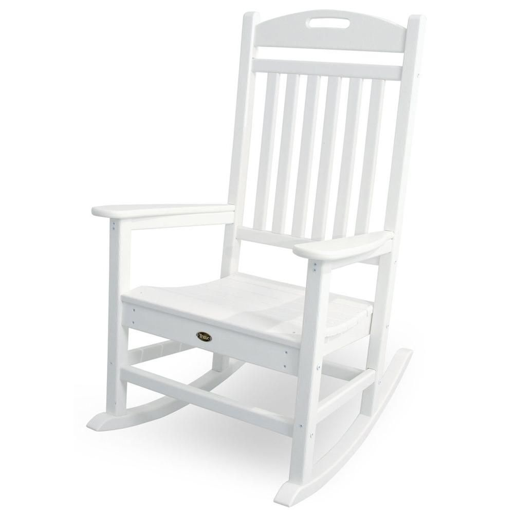 Trex Outdoor Furniture Yacht Club Classic White Patio Rocker Txr100cw At The Home Depot Outdoor Rocking Chairs Trex Outdoor Furniture Patio Rocking Chairs