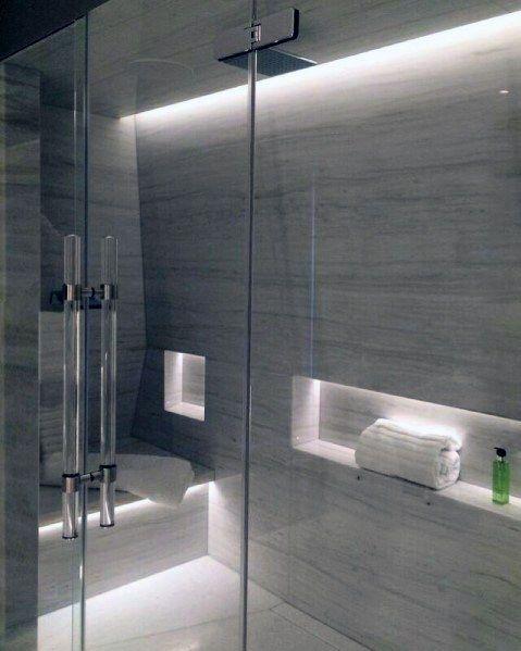 Top 50 Best Shower Lighting Ideas Bathroom Illumination Elegant Bathroom Modern Bathroom Modern Bathroom Design