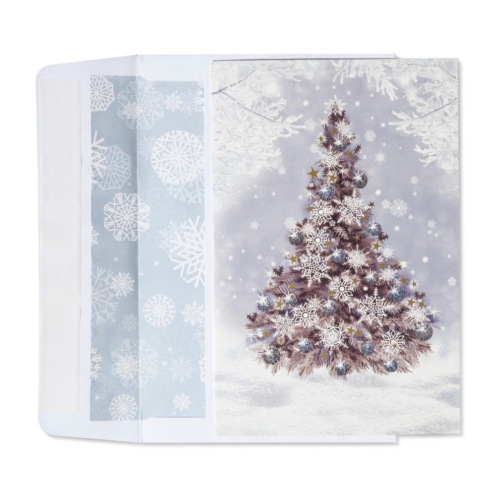 American Greetings 40ct Snowy Christmas Tree Holiday Boxed