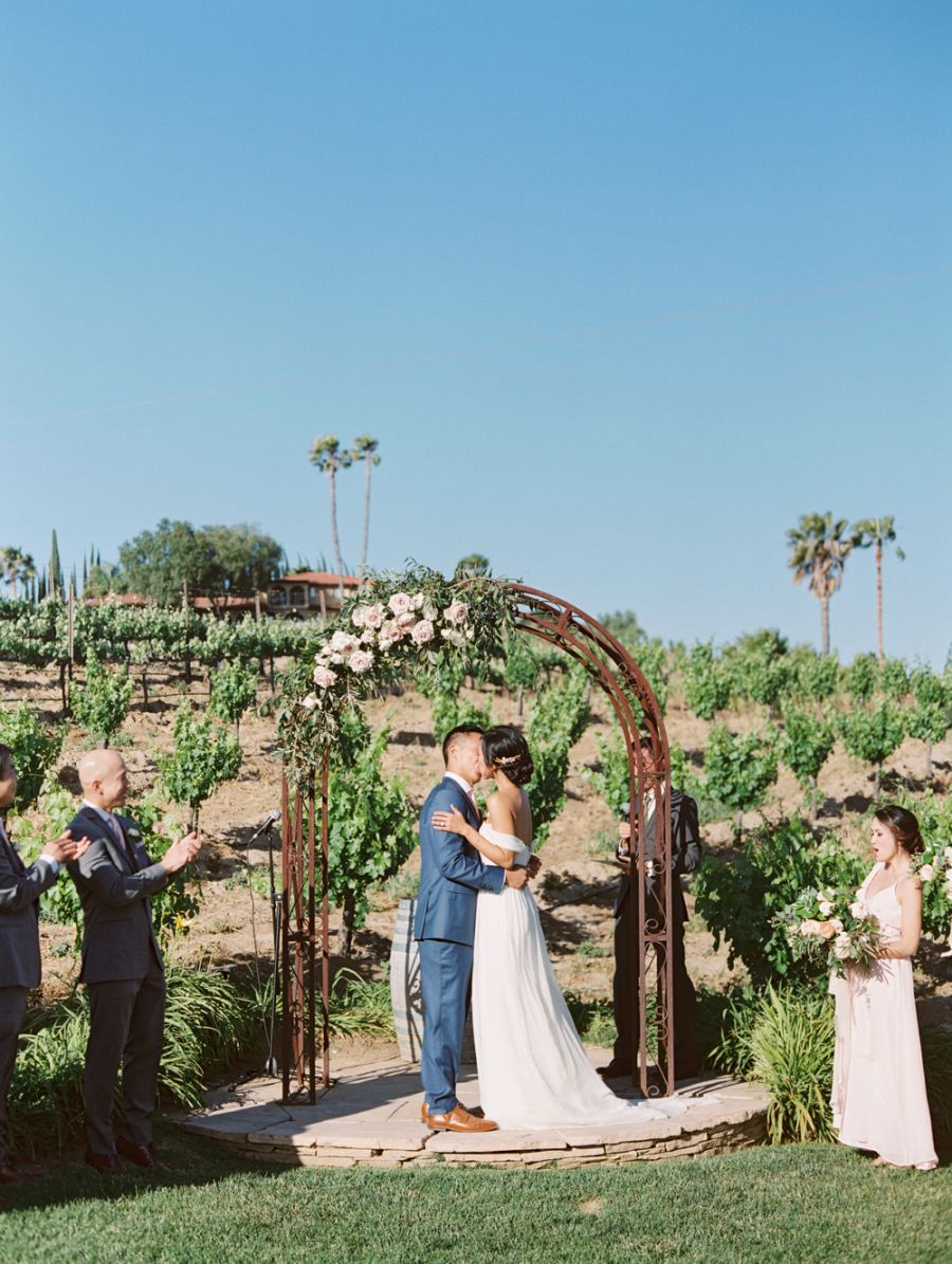 A perfectly pastel pink wedding in california kelly zhang