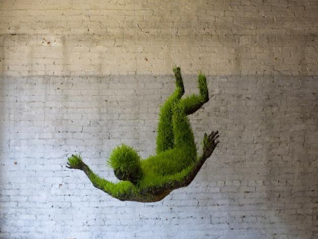 Crazy grass sculptures!