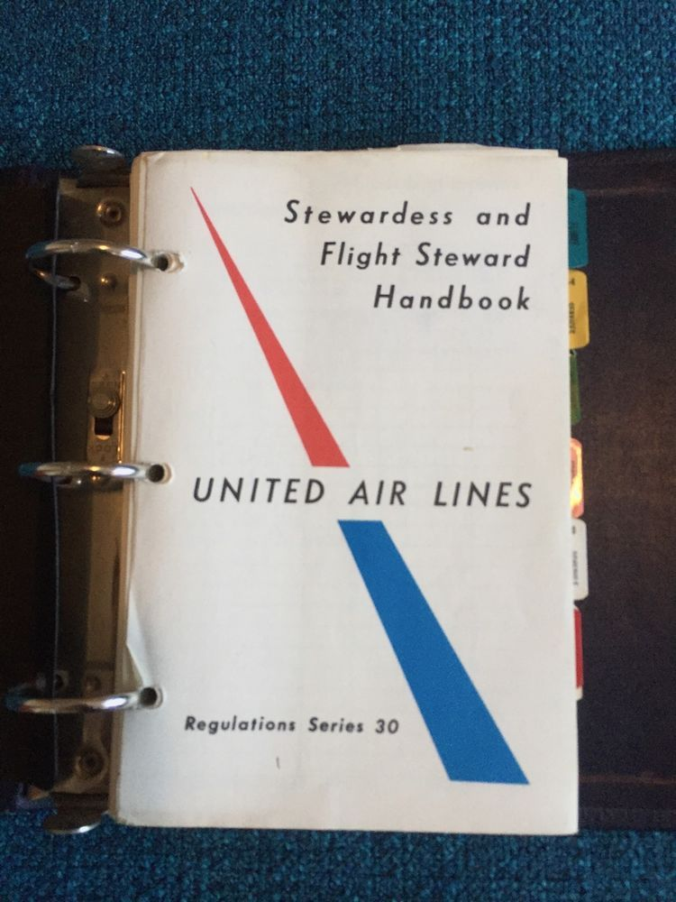 United Airlines Stewardess Flight Attendant Manual 720 Dc8 727 Caravelle 1970 United Airlines